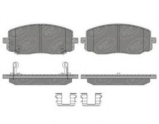Колодки тормозные SCT SP617PR