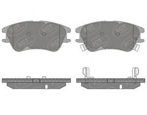 Колодки тормозные SCT SP620PR
