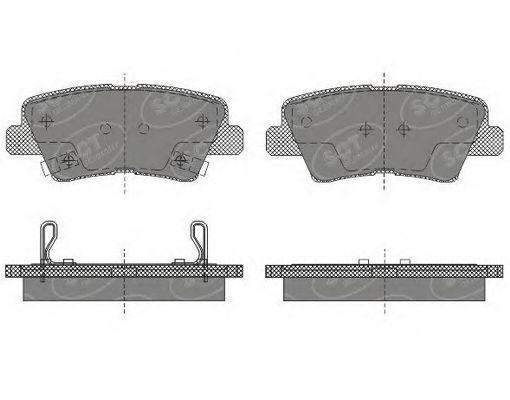Колодки тормозные SCT SP629PR