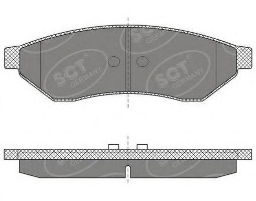 Колодки тормозные SCT SP645PR