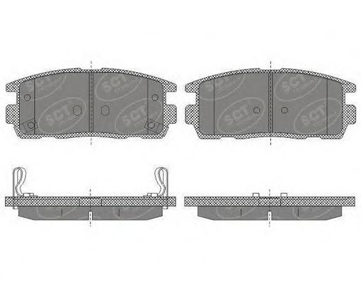 Колодки тормозные SCT SP647PR
