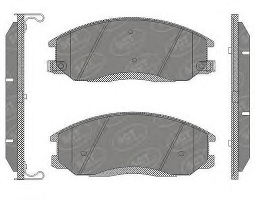 Колодки тормозные SCT SP649PR