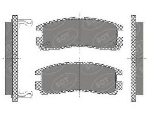 Колодки тормозные SCT SP651PR
