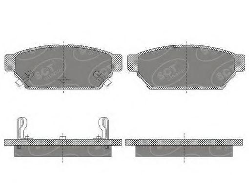 Колодки тормозные SCT SP652PR