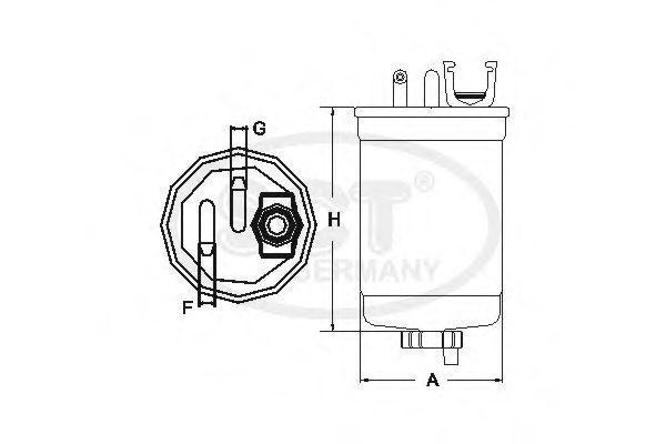 Фильтр топливный SCT ST6134