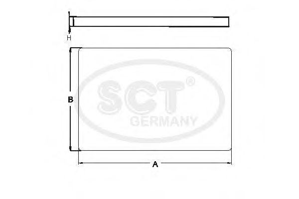 Фильтр, воздух во внутренном пространстве SCT SA1202