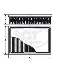 Фильтр воздушный SCT SB2292