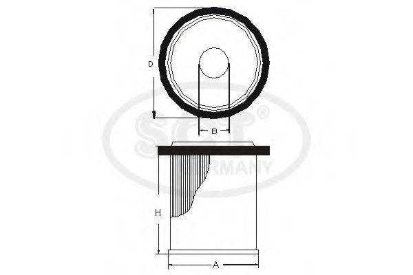 Фильтр топливный SCT SC7069P