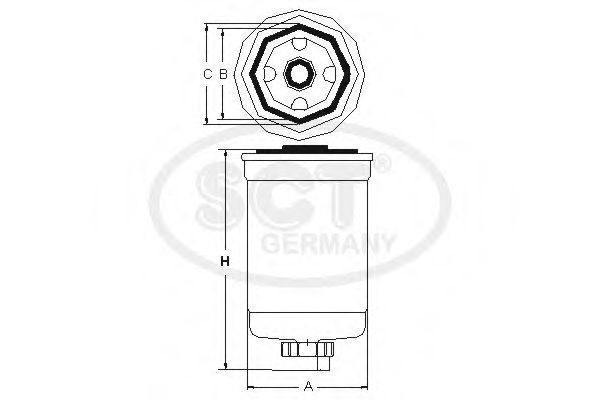 Фильтр топливный SCT ST6030