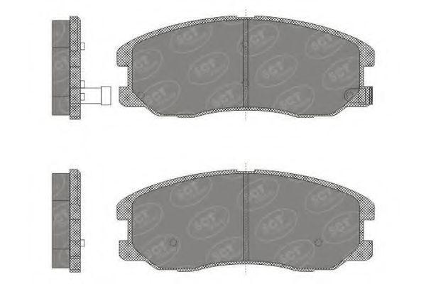 Колодки тормозные SCT SP664PR