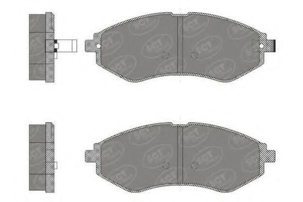 Колодки тормозные SCT SP665PR
