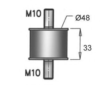 Изображение Подушка глушителя DINEX 64817: стоимость