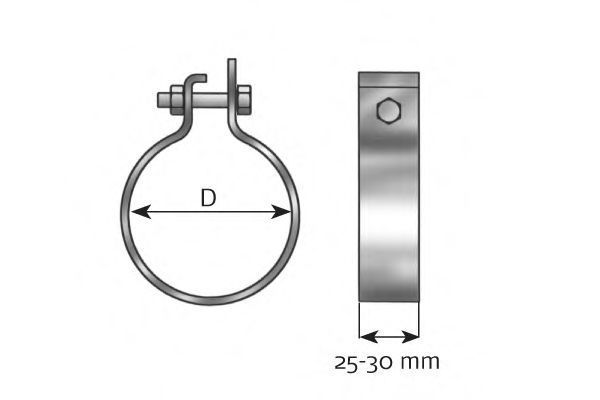 Хомут металлический DINEX 99789