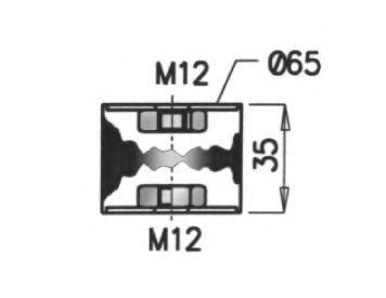 Крепление выхлопной трубы DINEX 68900