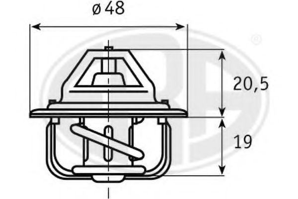 Термостат, охлаждающая жидкость ERA 350109
