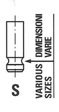 Клапан впускной FRECCIA R6462/SCR