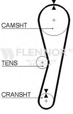 Ремень ГРМ FLENNOR 4016V