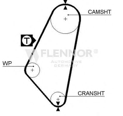 Ремень ГРМ FLENNOR 4972