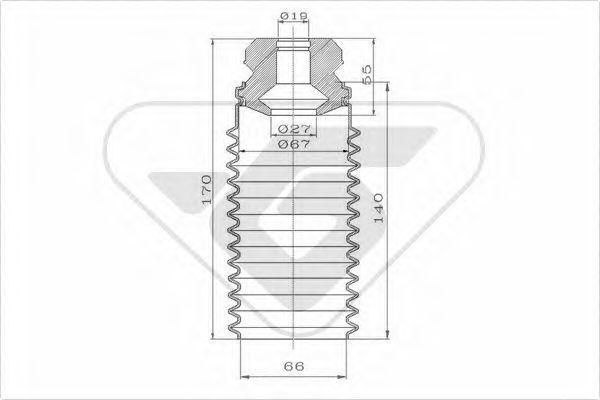 Пылезащитный комплект, амортизатор HUTCHINSON KP081
