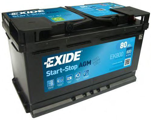 Аккумулятор 80Ач AGM Евро EXIDE EK800