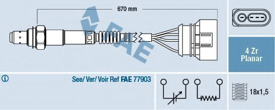 Лямбда-зонд FAE 77302