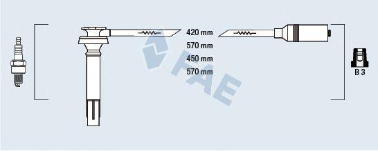 Комплект проводов зажигания FAE 83236