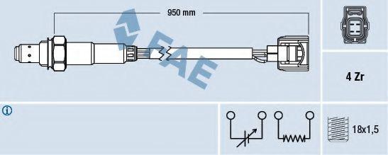 Лямбда-зонд FAE 77520