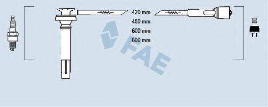 Комплект проводов зажигания FAE 83238