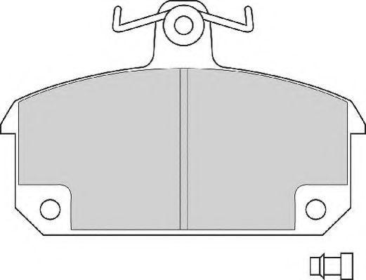 Комплект тормозных колодок, дисковый тормоз NEC FD204A