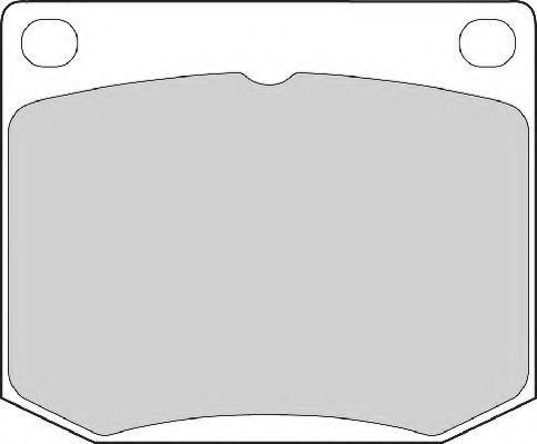 Комплект тормозных колодок, дисковый тормоз NEC FD4027A