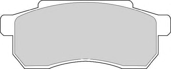 Комплект тормозных колодок, дисковый тормоз NEC FD905A