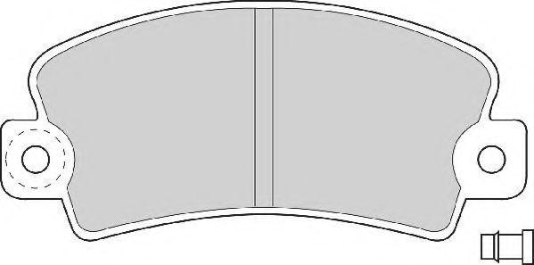 Комплект тормозных колодок, дисковый тормоз NEC FD692A