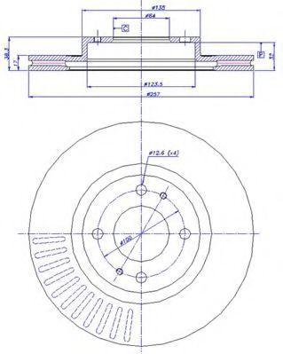 Тормозной диск CAR 1421717