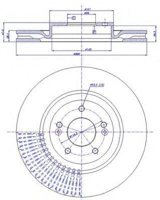 Тормозной диск CAR 1421734