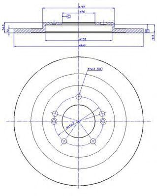 Тормозной диск CAR 1421736