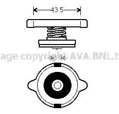 Крышка, радиатор AVA 980014