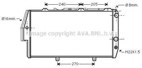 Радиатор охлаждения AVA AI2020