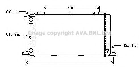 Радиатор охлаждения AVA AI2098
