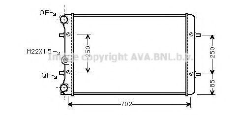 Радиатор охлаждения AVA AI2155