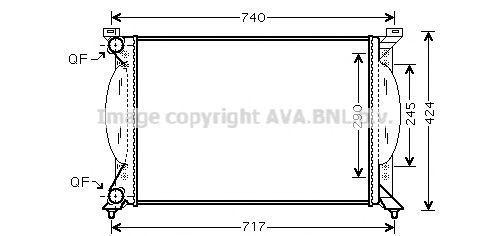 Купить Радиатор охлаждения AVA AI2201