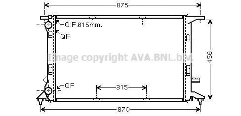 Радиатор охлаждения AVA AI2292
