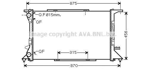 Радиатор охлаждения AVA AI2306