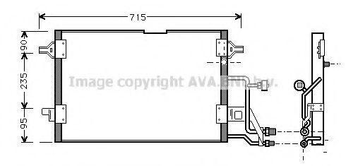 Радиатор кондиционера AVA AI5116