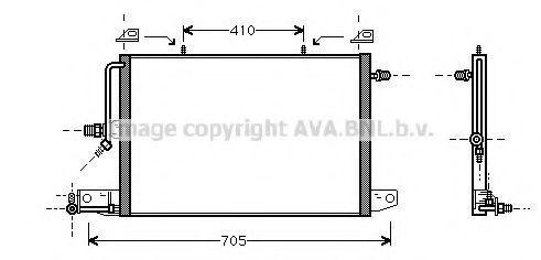 Радиатор кондиционера AVA AI5117