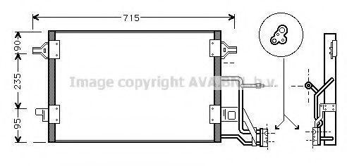 Радиатор кондиционера AVA AI5173
