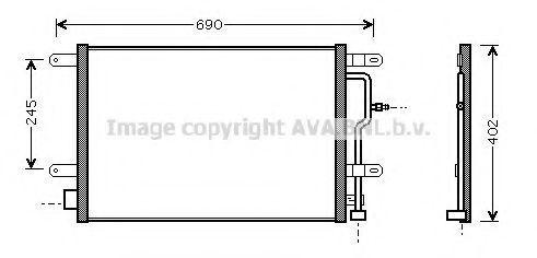 Радиатор кондиционера AVA AI5194