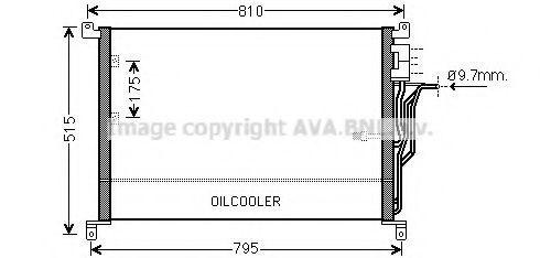 Радиатор кондиционера AVA AI5301