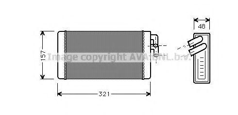 Радиатор отопителя салона AVA AI6052