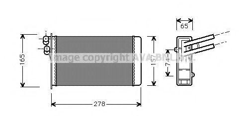 Радиатор отопителя салона AVA AI6097