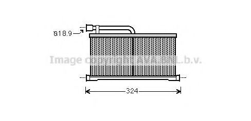 Радиатор отопителя салона AVA AI6296